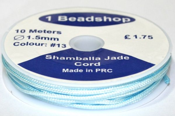 Light Blue 13 10 Metres x 1.5mm Jade  Cord JSC-10-1.5-13 / S.B
